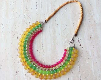 Necklace Bright necklace Colorful necklace Bib nacklace