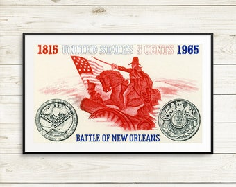 New Orleans poster, New Orleans wall art, New Orleans print, Battle of New Orleans, Louisiana history, New Orleans Louisiana, large posters