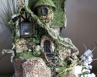 Fairy Faerie Garden House Miniature OOAK Display