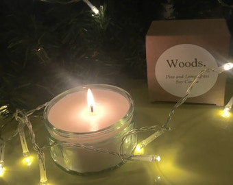 Woods, Pine and Lemongrass Soy Candle