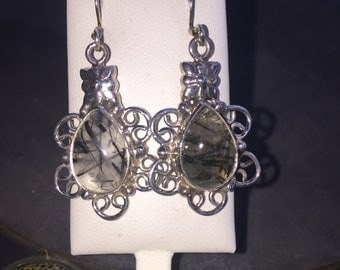 Tourmaline earrings in silver
