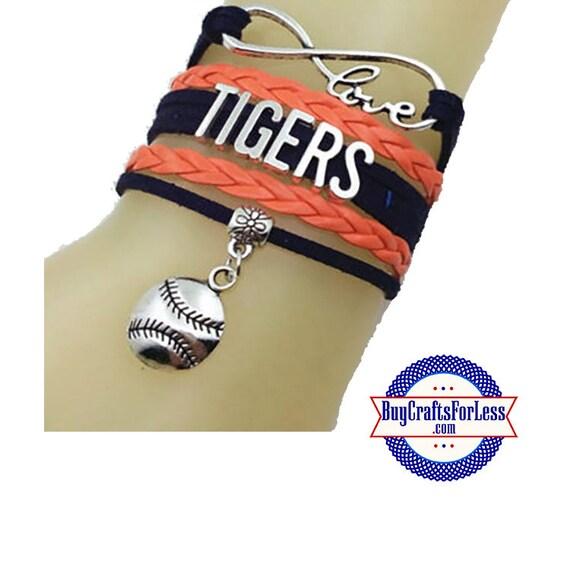 DETROIT Leather Bracelet-U Choose CHARM +Discounts & FREE Shipping*