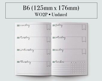 B6 Insert, B6 Travelers Notebook, Bullet Journal, Bullet Journal Accessories, Bullet Journal Template, Printable Planner, 2017 Planner