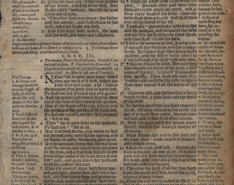 1581 Geneva Bible Leaf GENESIS 3-5