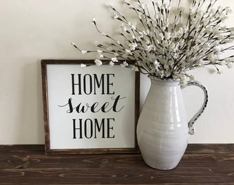 Home Sweet Home | Fixer Upper Style | Farmhouse | Shabby Chic | Welcome