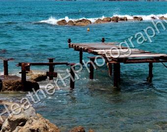 Paphos Beach, Broken Pier - Photography