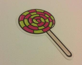A lolly sticker