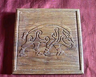 AR Pemoc'h Gwez: woodcarving - Wood carving / Celtic tracery - Celtic knotwork