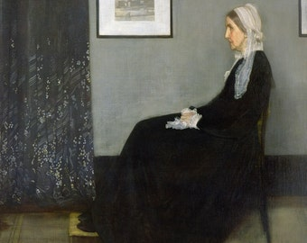 James McNeill Whistler : Whistler's Mother (1871) Canvas Gallery Wrapped Wall Art Print