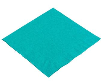 50-100 Teal Beverage Disposable Napkin, Wedding Napkins, Beverage Napkins, Wedding, Party, Wedding Supplies, Party Supplies