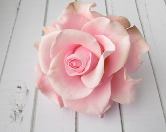 Pink Rose Hairpin - Flowers hair pin hair accessories - Rose Hair Piece - Wedding Hair Decoration - Hair Wedding Flowers