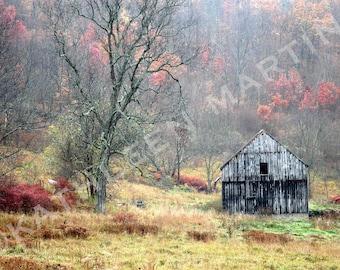 Autumn Barn Photo Card