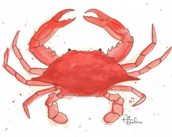 "Boiled Crab 8x10"" Matted Giclée Print"