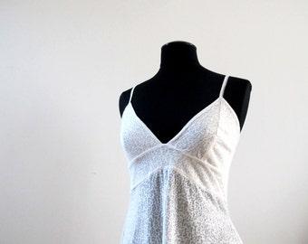 delicate white slip dress, romantic slip dress, honeymoon lingerie, flowy dress, white night gown, wedding night dress, velvet dress