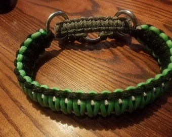 Paracord Dog Choke Chain Collar - king cobra