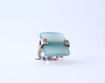 925 silver ring and chalcedony stone