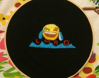 Emoji Embroidered Pocket T-Shirt