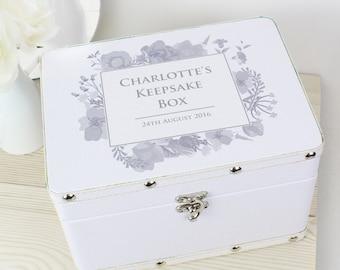 Personalised Wooden Keepsake Box,Jewellery Box,Trinket Box,Memory Box,Gift Box