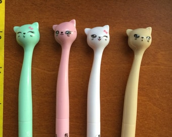 Kawaii cute Kitty Cat fine t pen black ink for Stationary Storage Organizer Bag School Office Supply Planner pen pals