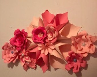 mini paper flower backdrop
