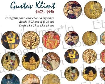 Board 72 digital * Gustave Klimt * to print for cabochons