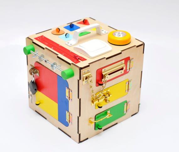 busy brett holzspielzeug baby lernen spielzeug 1 jahr alt. Black Bedroom Furniture Sets. Home Design Ideas