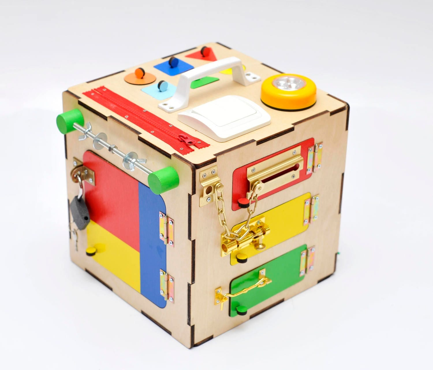 Busy board Wooden toy Baby Learning toy 1 year old gift