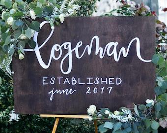 """Custom """"Established.."""" Wooden Sign"""
