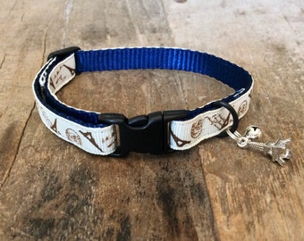 Paris cat collar