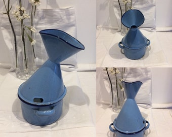 Inhaler Vintage metal blue
