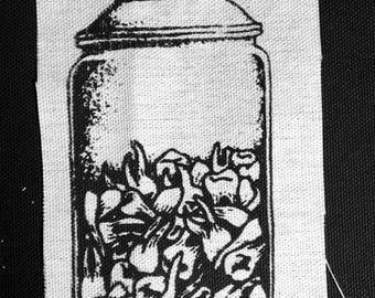 """Jar Of Teeth Patch // 6""""x4"""""""