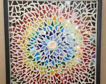 Mosaic Sunburst Wall Hanging