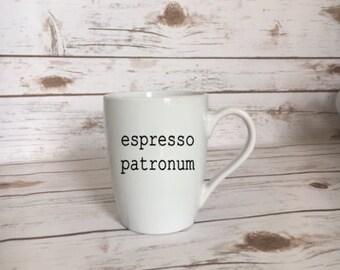 Espresso Patronum Coffee Mug, Harry Potter Gift, Harry Potter Lover Gift, Harry Potter Coffee Mug