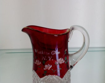 Ruby Stained Glass - Creamer - Button Arches