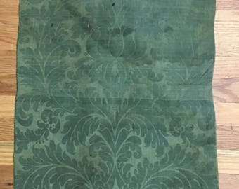 Extremely Rare 18th Century Woven Silk Damask Panel