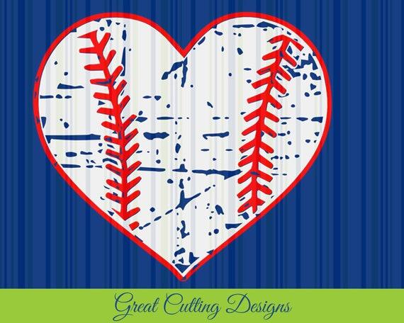 Baseball Svg Cut File Distressed Svg Dxf Cut File Cricut