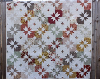 Star Quilt, Fall Quilt, Quilted Throw, Lap Throw, Quilt, Sofa Quilt