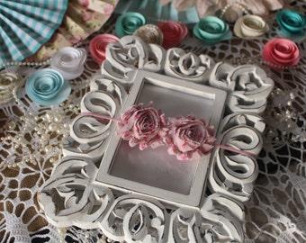 Pink Floral Baby Headband