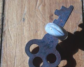 Fossil... Vintage Lampwork Key