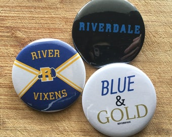 Riverdale Netflix, River Vixens Pin-back button pack 2.25 inch