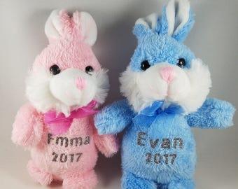 Personalized bunny etsy personalized bunny easter bunnies small personalized bunnies easter gift name bunny negle Choice Image