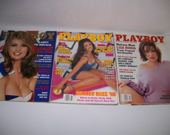 Playboy Magazines July, August, & September 98