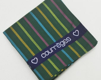 FREE SHIPPING!!! Courrèges Hanky Handkerchief