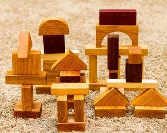 35 Piece Hardwood Building Blocks