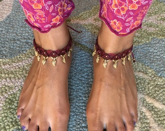 Summer Loving handmade Colour Me Hippy Happy Anklets