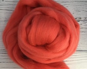 Merino Wool Roving - Cactus Bloom - 1 oz