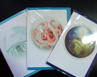 Aquarium Art Assortment - Greetings Cards