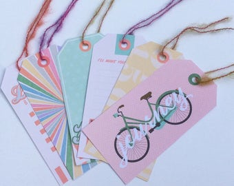 Gorgeous retro tags. Funky tags. Fun tags. Gift tags. Large tags.
