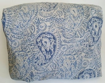 Fitted Sheet / FULL / Ralph Lauren / THE LANDING / Blue Paisley / French Country / Ralph Lauren Bedding / 350 Threat Count Cotton Sateen