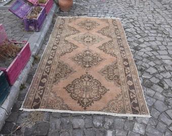 Anatolian Turkish Rug 4.6 ft x 8.2 ft Handmade Turkish Rug Turkish Area Rug Floor Rug Free Shipping Anatolian Turkish Decorative Rug